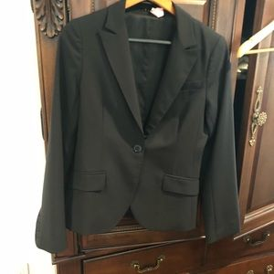 THEORY TWO PIECE SUIT BLACK